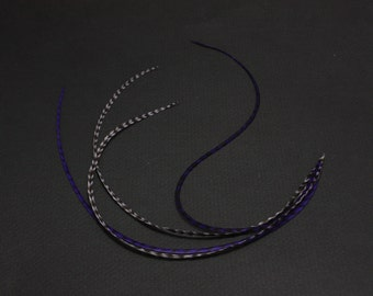 Purple Lavender Feather Extensions 11-12 inches long