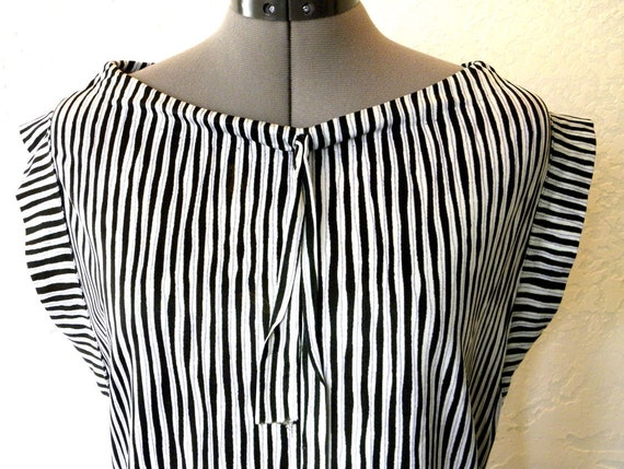 Dress - Vintage OOAK Mod Striped Vintage Shift Dress/Tunic