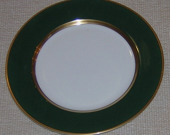 Fitz and Floyd Renaissance Dark Green Bread and Butter Plate