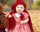 baby little red riding hood cape photography prop