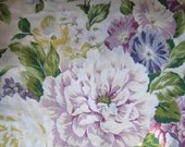 Vintage Fabric Valance Roses Morning Glories Country Cottage Repurpose Home Decor