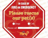 Silly Marty Collection Pets Rescue Window Decal Sticker- STOPPP