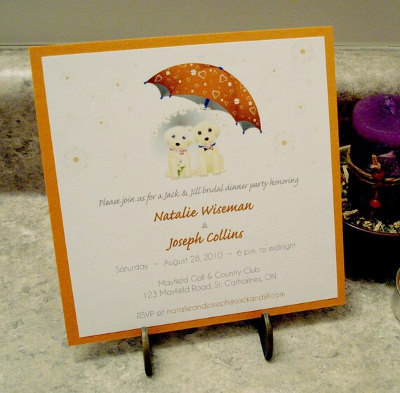 Items Similar To Jack And Jill Puppy Dog Wedding Shower