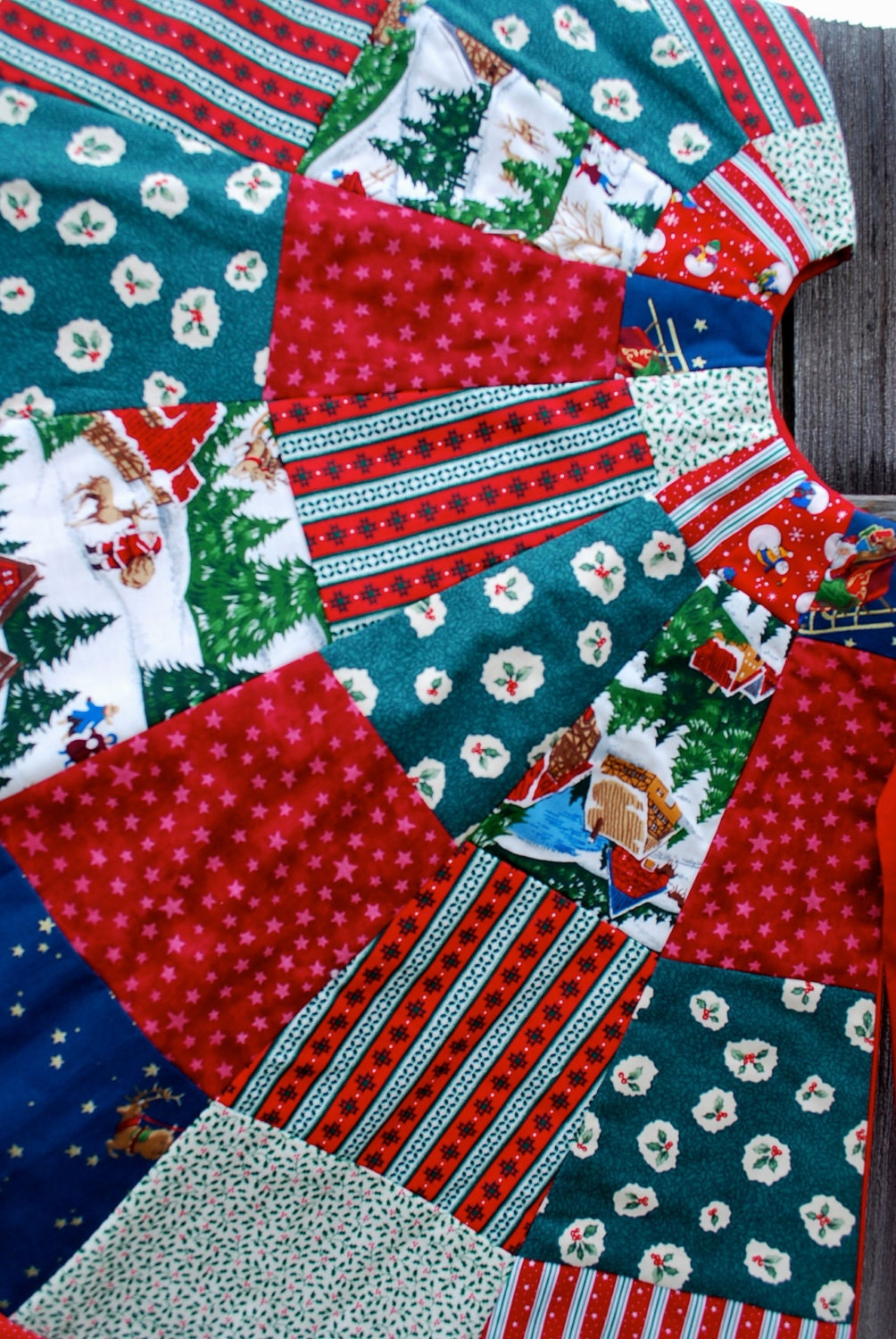 Quilted Christmas Tree Skirt Pinterest : Quilted Christmas Tree Skirt by jcawley07 on Etsy