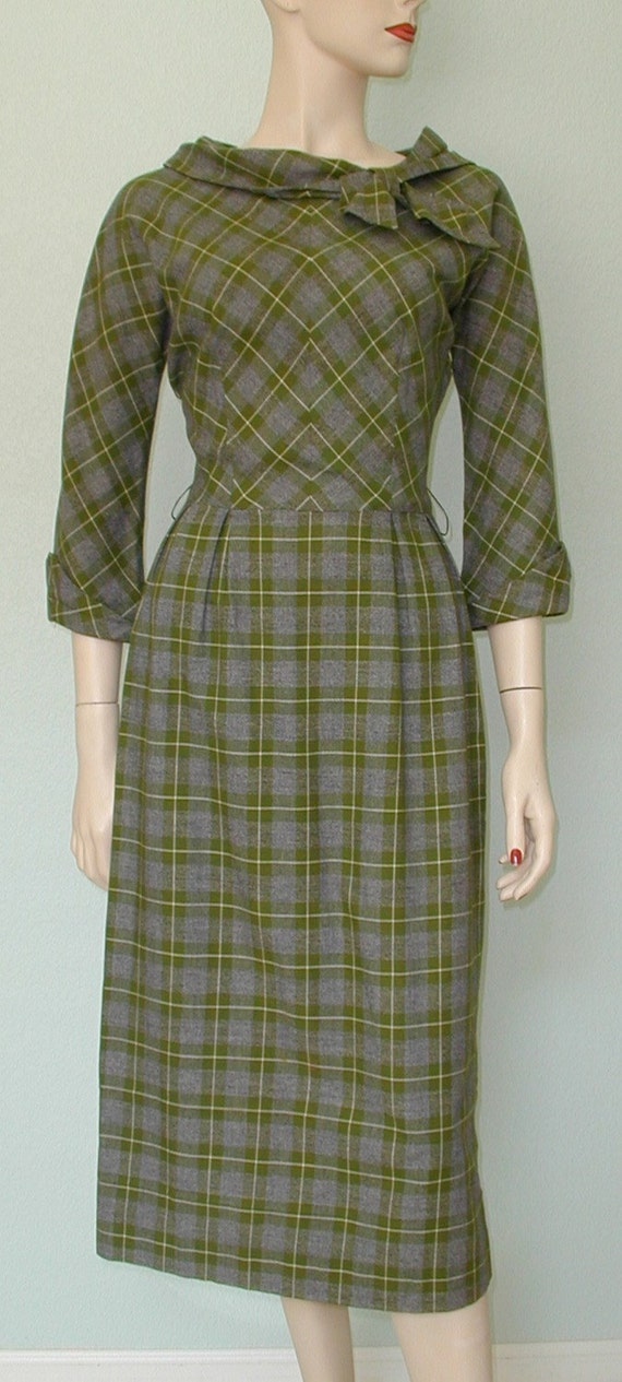 RESERVED  50's Minx Modes Tailored Day Dress