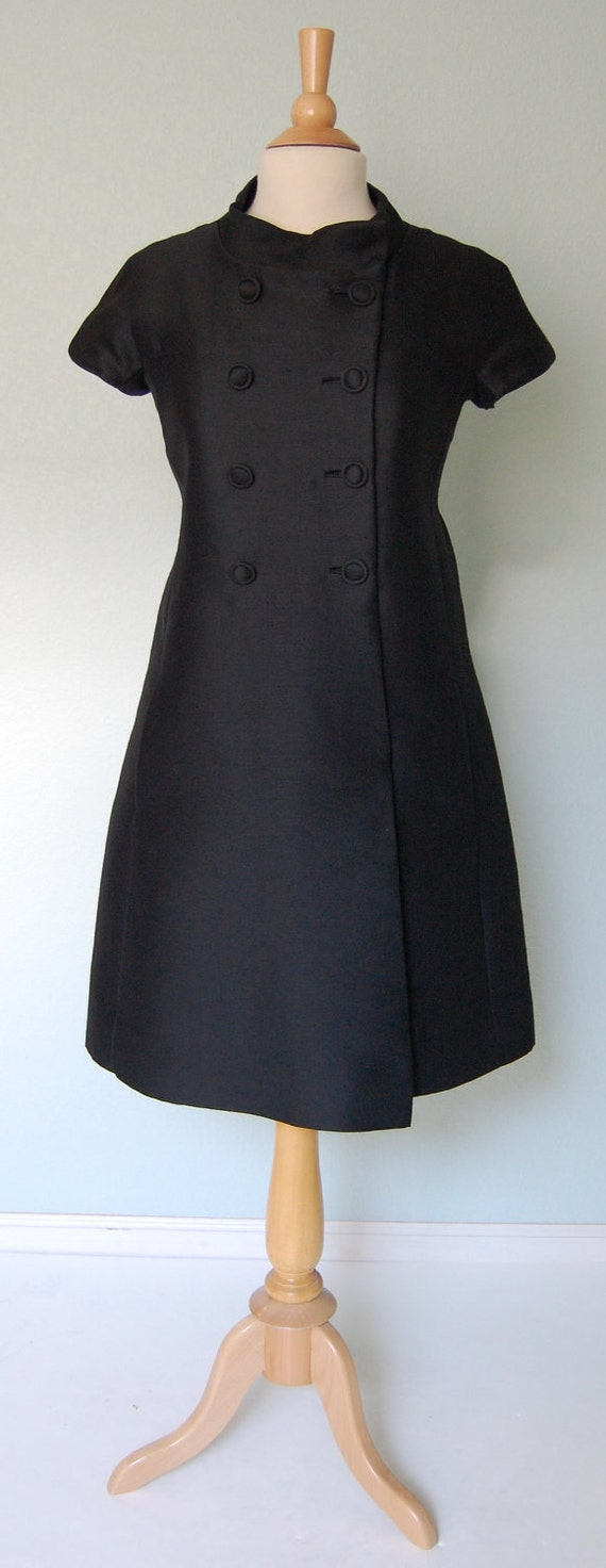 1960s Mod Space-Age Coat Style Dress