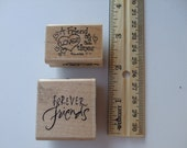 Free  Shipping..Friend Rubber Stamp Set