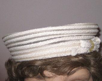 Ladies Vintage Hat, White