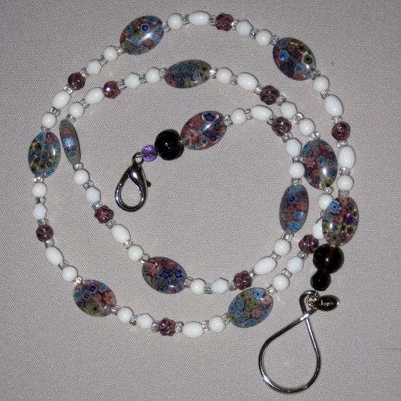 Millifiori Bead Lanyard for Card or Key,