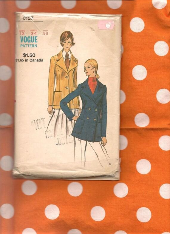Vogue 8157 ladies blazer