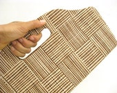 Modern Design Brown and Tan Handbag