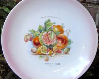 1915 Appreciation Floral Porcelain Plate