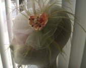 Feather and Flower Pad - Tulle and Crystals