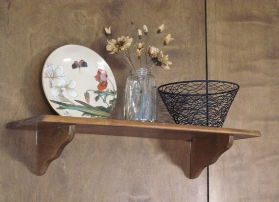Decorative Wall Plates For Hanging: Plate Shelf Maple Wood Wall Decor Display Shelf