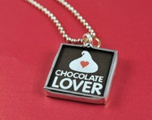 Chocolate Lovers Necklace Chocolate Kiss Charm