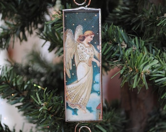 Glass Angel Ornament Glass Christmas Ornament Victorian Angel