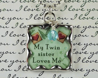 Twin Sisters Necklace Twin Sister Pendant Twin Sister Jewelry Sisters Pendant