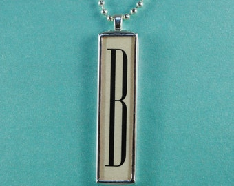 French Necklace Personalized Initial Necklace Soldered Letter Pendant