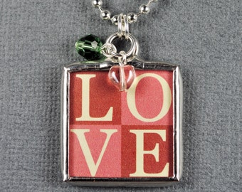 Love Necklace Heart Charm Love Pendant