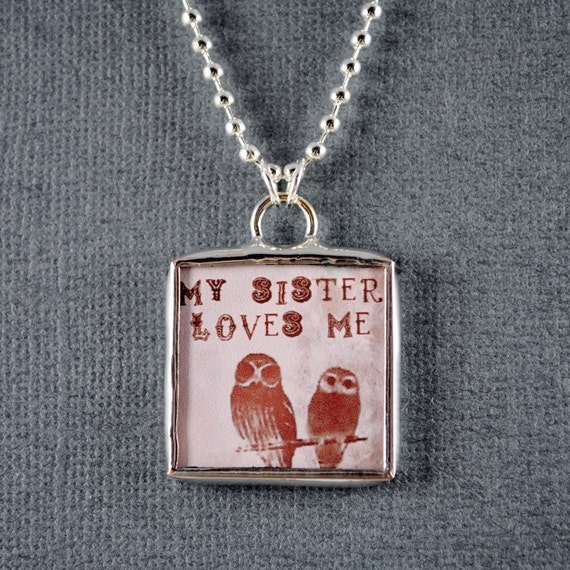 Sister Necklace Sister Jewelry BFF Jewelry Owl Pendant