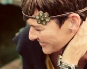 Bohemian Slip-not flowered headband