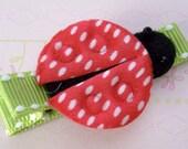 Ladybug - no slip hair clip for children
