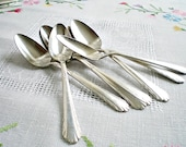 Vintage Silverplate Teaspoons, Set of 7 matchingBlack Friday/ Cyber Monday