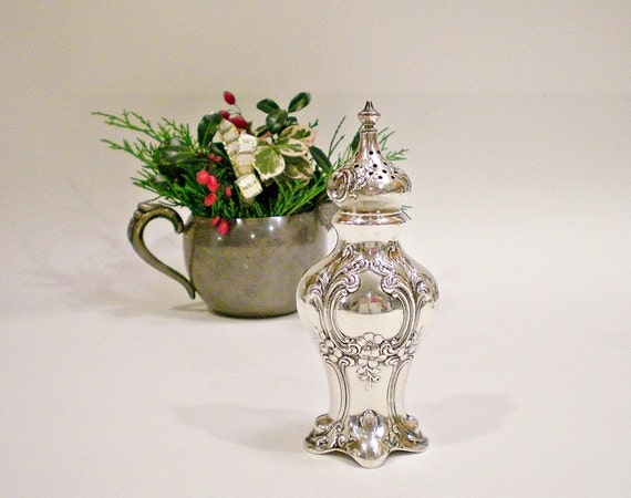 Vintage Salt Shaker Gorham Chantilly Sterling Silver 1947