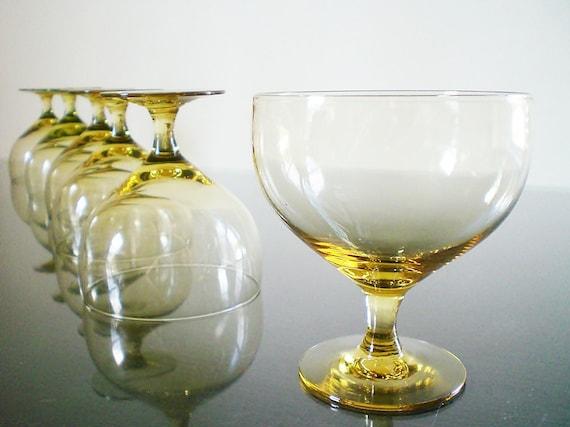 Vintage Wine Goblet American Modern Russel Wright Stem