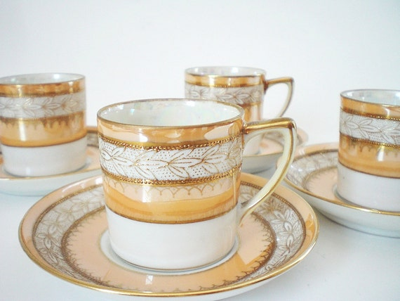Shabby Chic Demitasse Cup Set Noritake China
