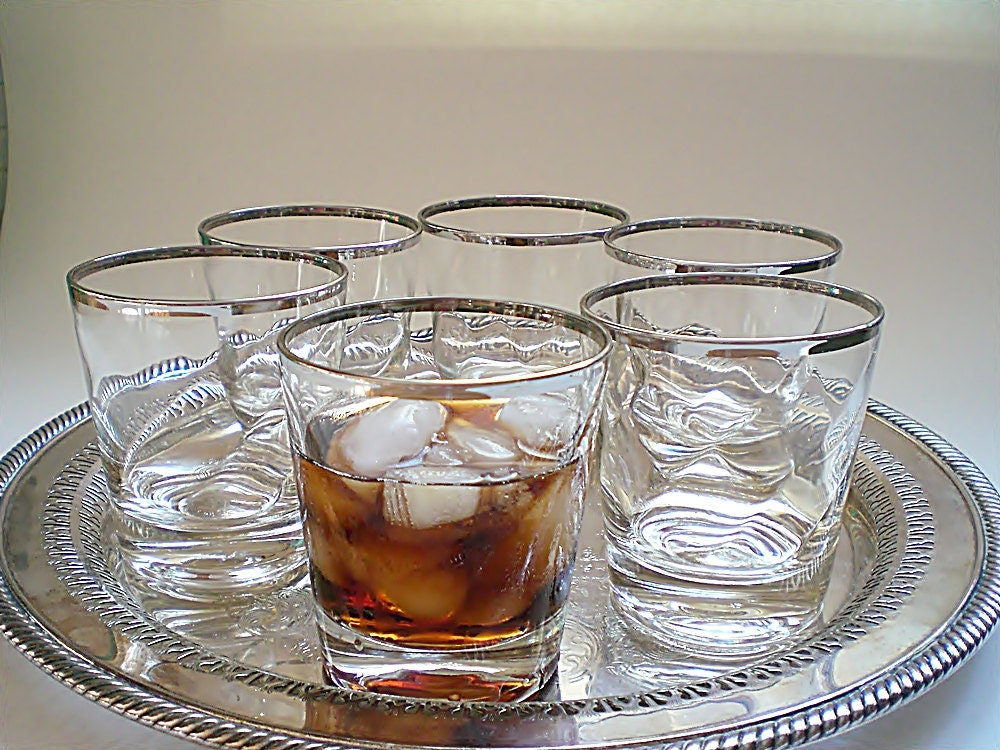 vintage cocktail glasses mid century barware old fashioneds