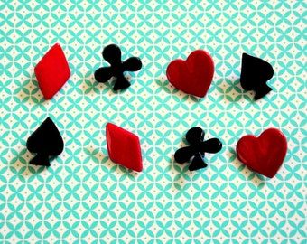 Suit of Cards Buttons 8pc