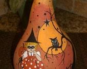 HALLOWEEN Gourd Cat Witch