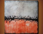 24 x 24 Original Textured Abstract Painting -- Her Majesty Dreams -- Available Now