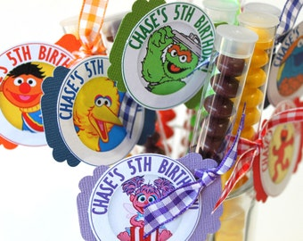Kids Birthday Party Favors Treats (20) - personalized, treat stacks, favor stacks, party favor, party treat, candy