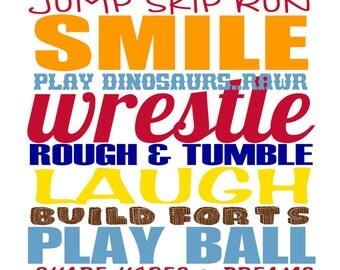 Brothers Cousins Friends Buds Subway Art Typography - personalized, custom, boys room, decor