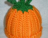 Baby Pumpkin / Orange Hat - 0-3 Months