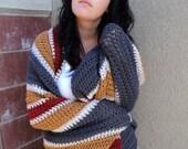 Crochet  Blanket, Crochet striped Blanke,/crochet striped afghan, crochet blanket gift