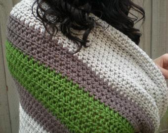 Crochet blanket, crochet striped blanket, handmade crochet blanket, crochet afghan, crochet handmade afghan