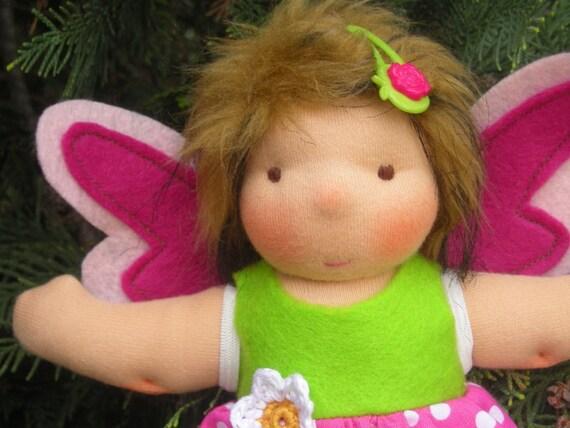 Sale - Organic waldorf inspired doll -  fairy