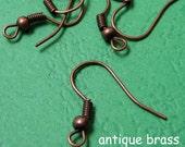 200pcs Antique Copper earring hook /ear wire