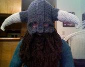 Crocheted Skyrim beard/helmet - MADE TO ORDER