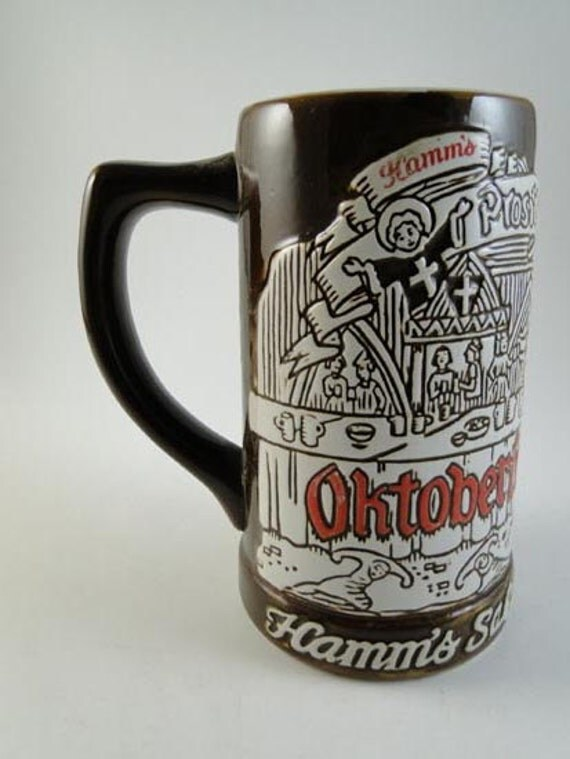 Vintage 1973 Hamm S Oktoberfest Beer Stein Mug By