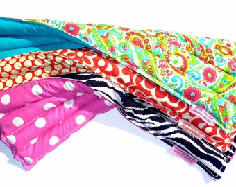 "SALE - Microwaveable Heating Pad 7""x20"" -  SET of 10 - You choose print"