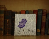 Purple Hope Bird 6x6