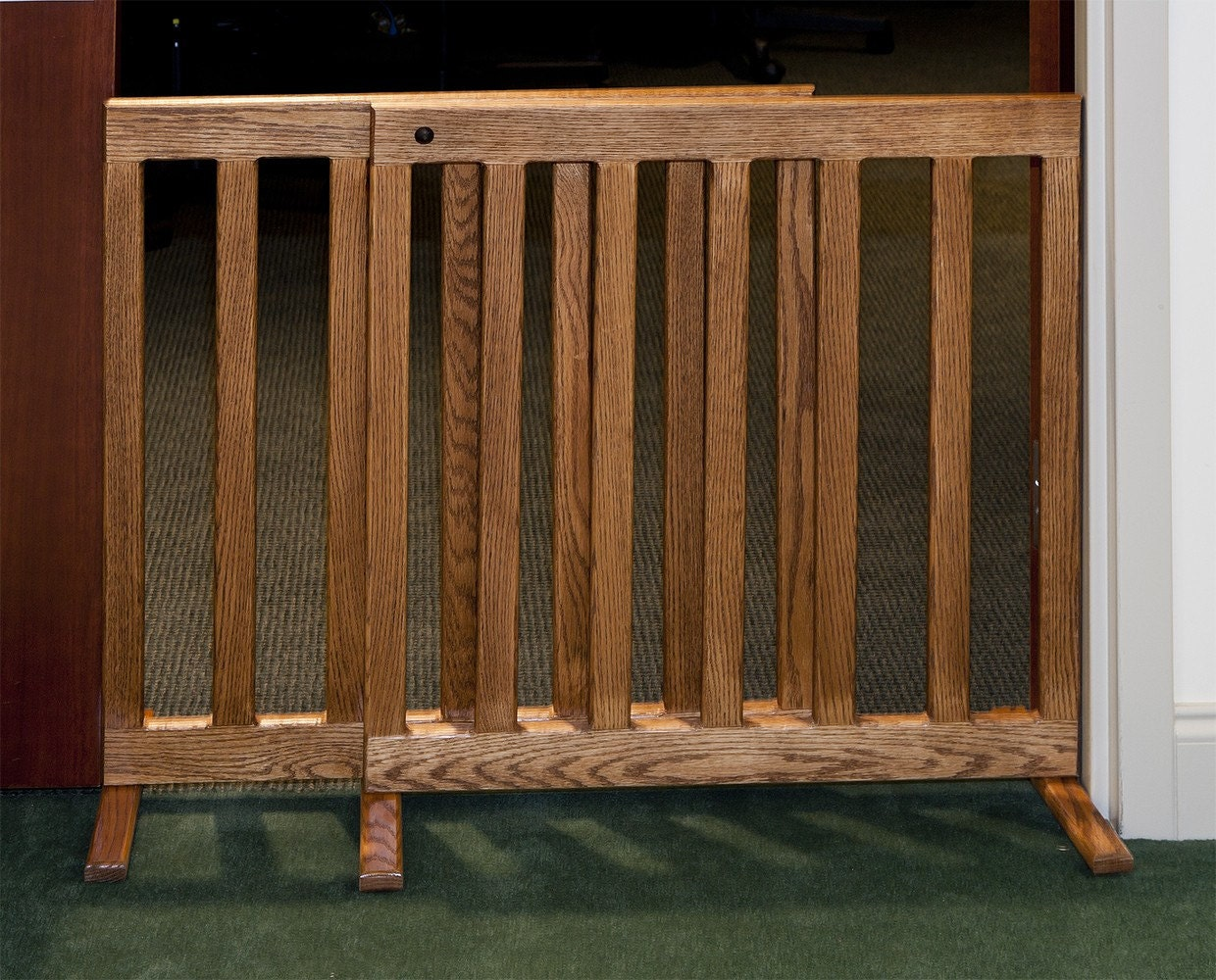 Amish Adjustable Dog 48 Inch Gate Wooden Puppy By Pinnaclewc