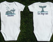 Whale Vacation Bodysuit for Baby Boy