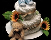 Reserved For Kanderson - Welcome Patrick - 2 Tier Diaper Cake