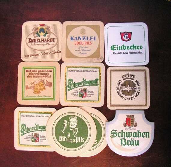 Vintage Beer Coasters, Instant collection