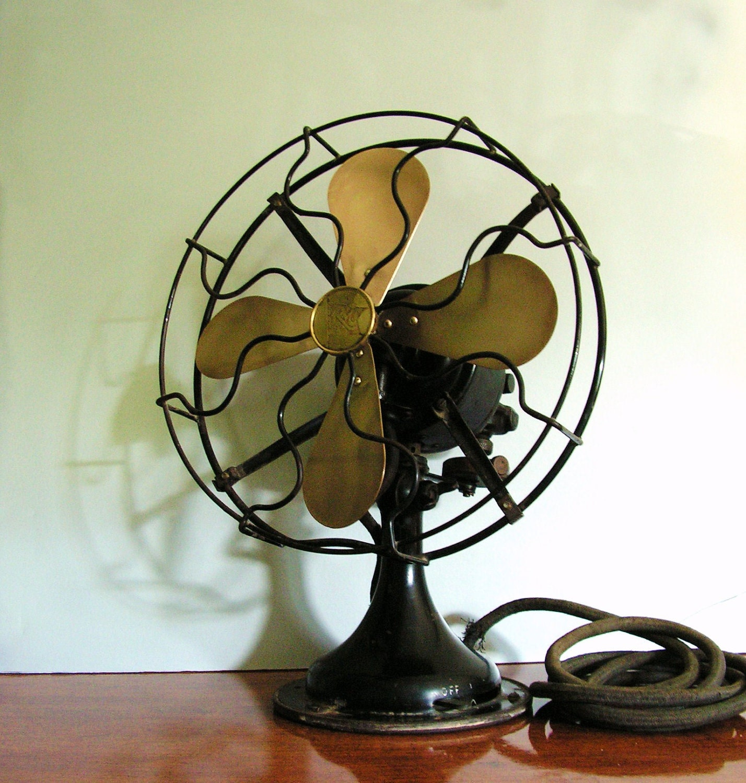 Antique Brass Fan Robbins Amp Myers Fan Black Frame By